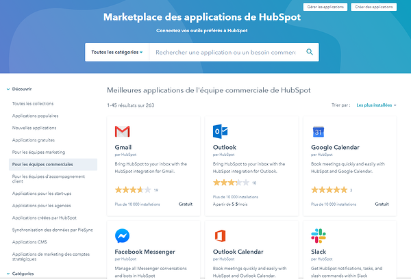 marketplace applications hubspot