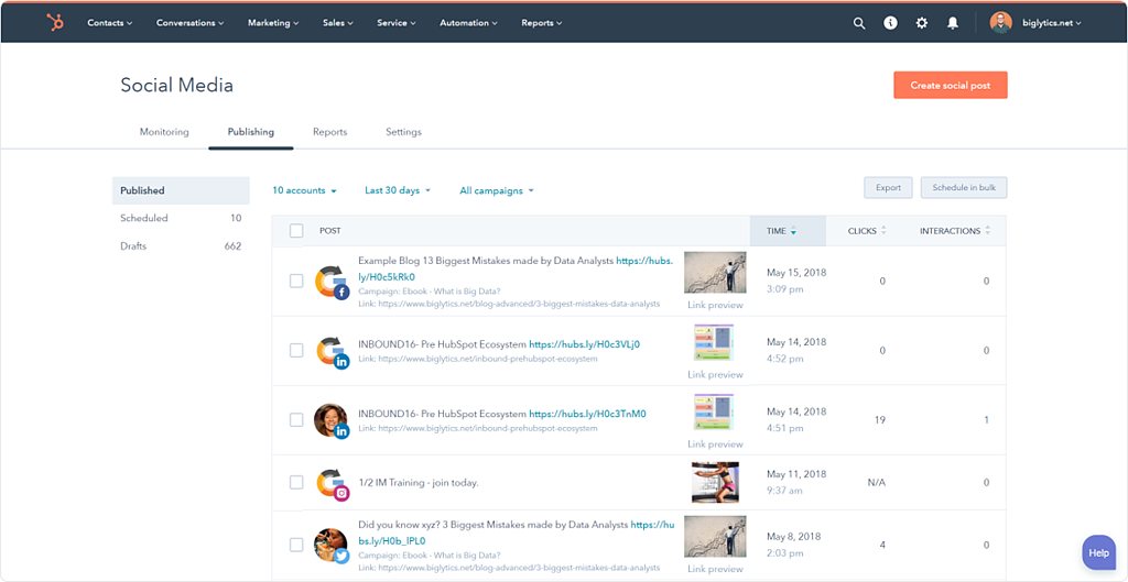 HubSpot-SocialMedia-Screenshot