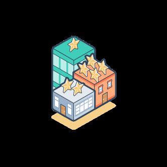 Illustration of buildings
