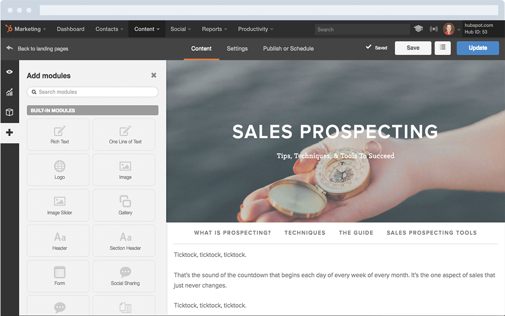 hubspot-marketing-landing-pages-tool