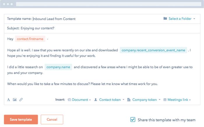 Modèles d'e-mails HubSpot CRM