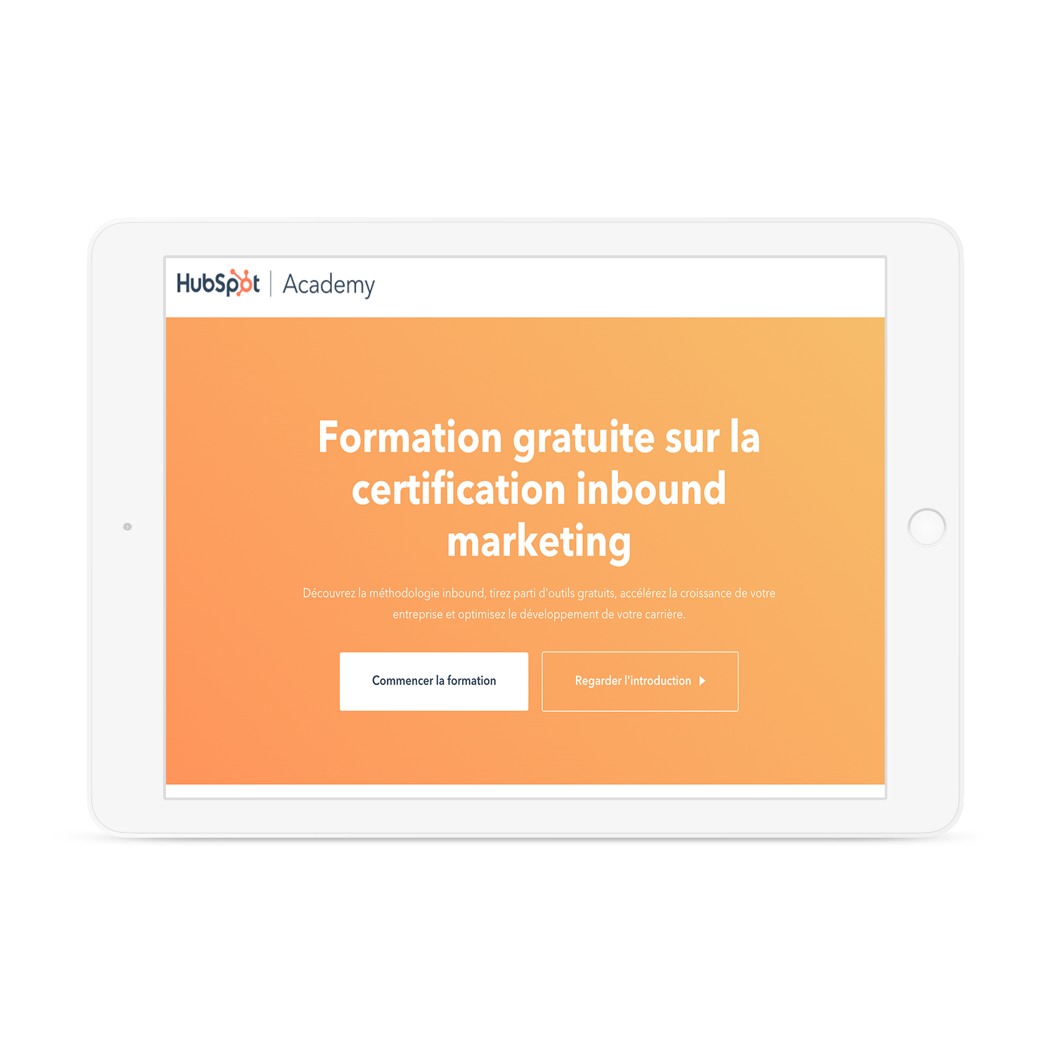 Formation gratuite sur la certification inbound marketing