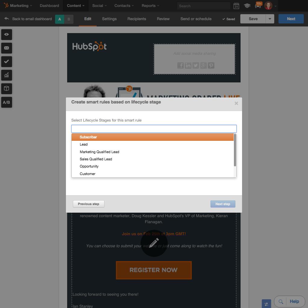 Personnalisez chaque email avec le contenu intelligent HubSpot