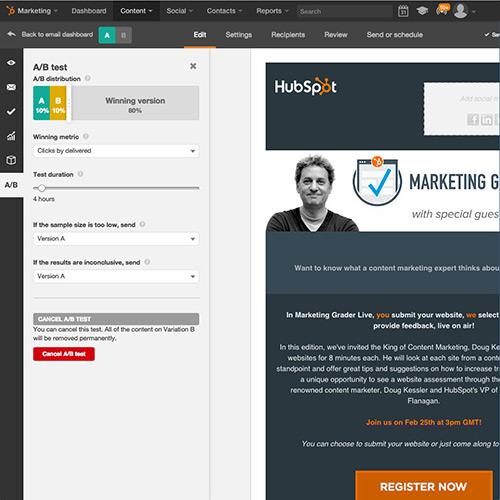 Effectuez un test A/B sur chaque élément de vos emails avec HubSpot