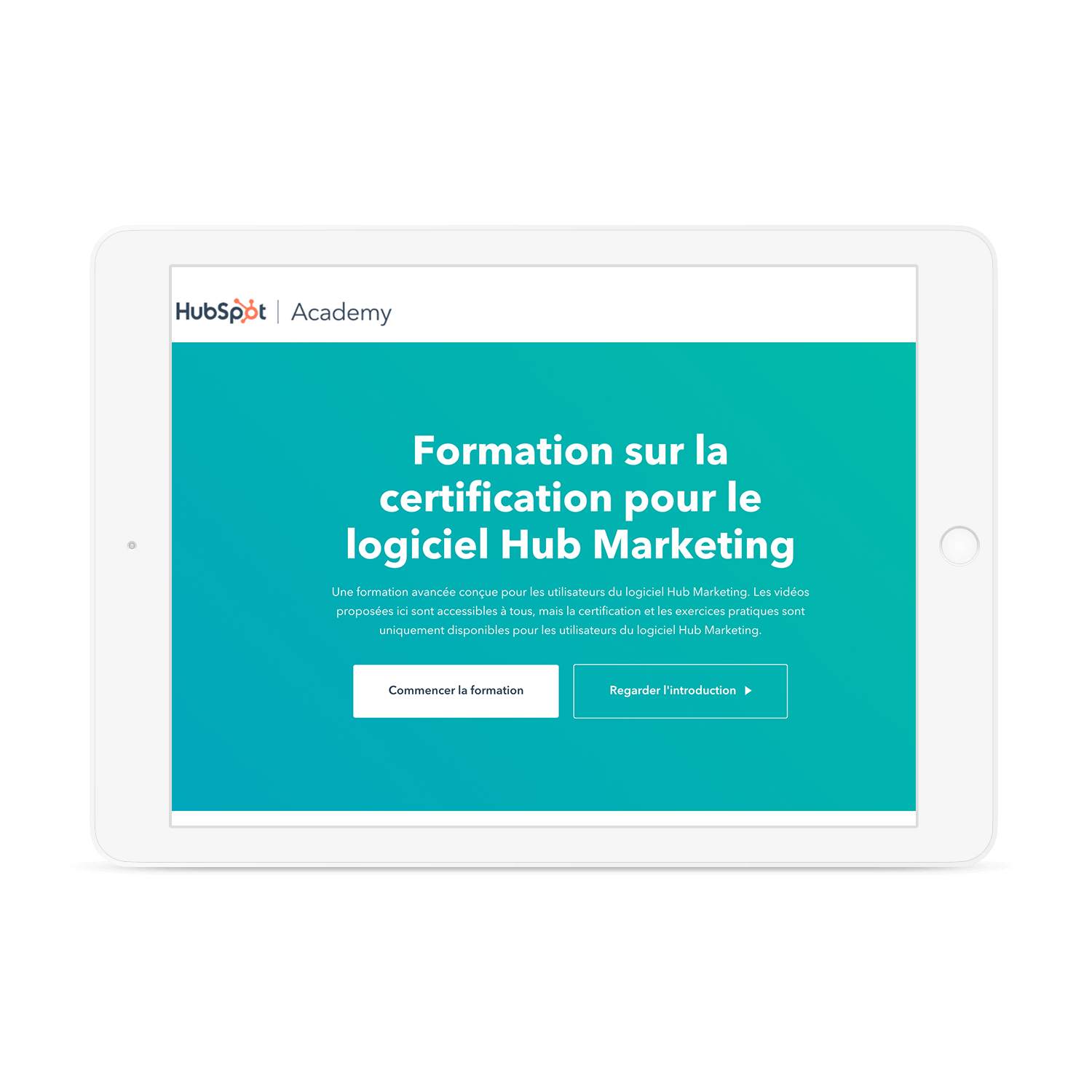 Certification HubSpot Academy sur le Marketing Hub