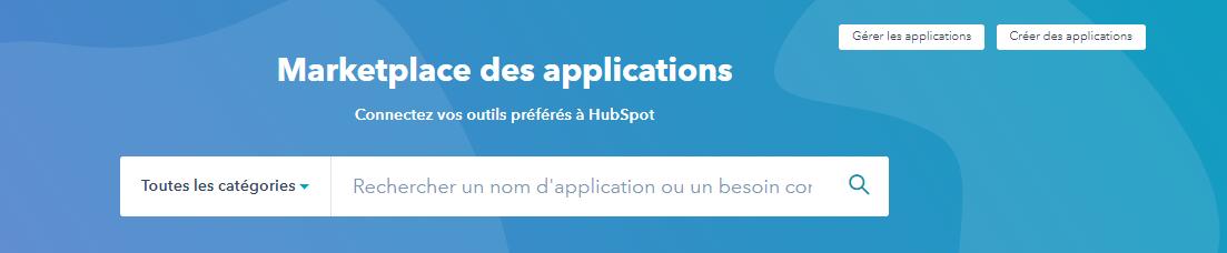 HubSpot marketplace des applications