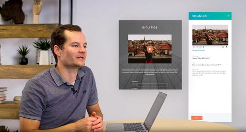 intégration d'une vidéo sur un support marketing