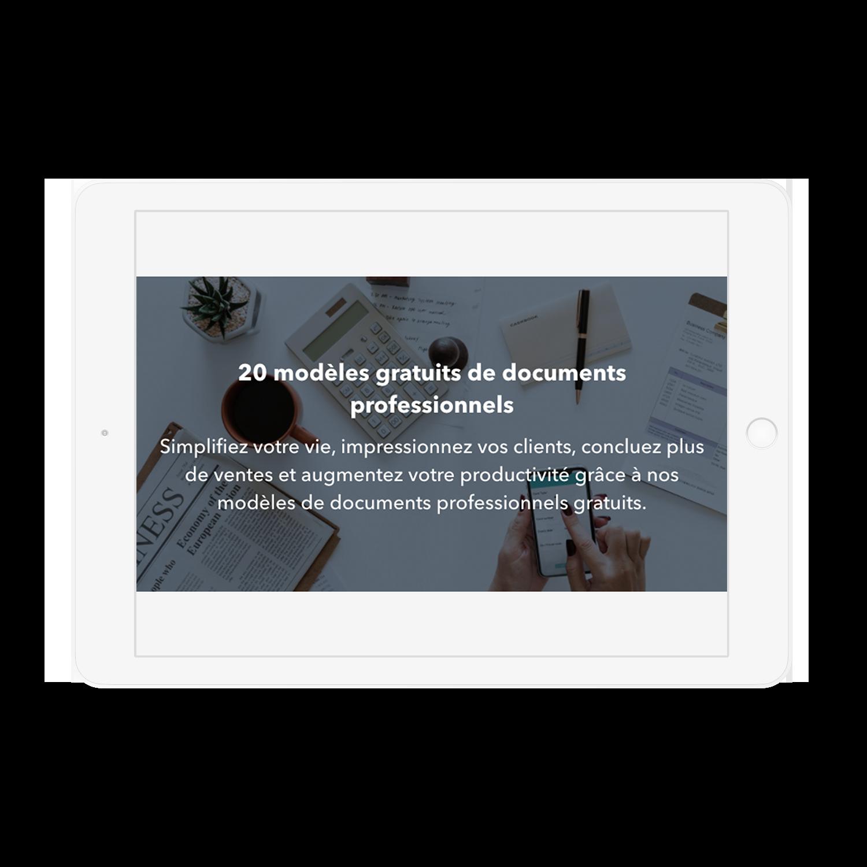 20 modèles gratuits de documents professionnels